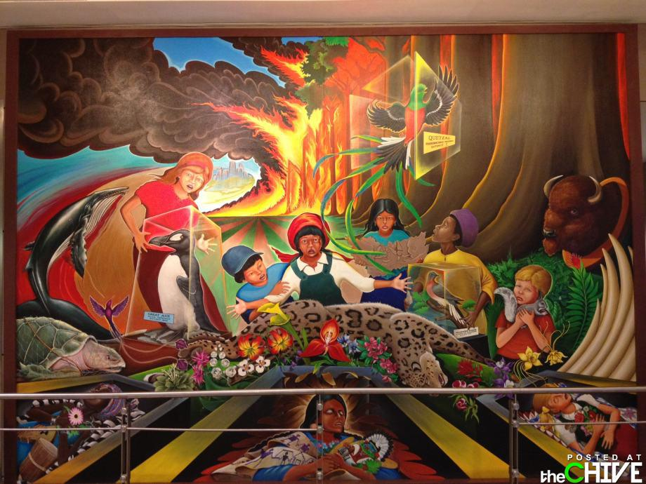 Murals denver international airport uncovered for Denver mural airport